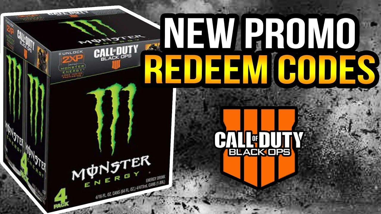cod black ops 4 monster energy codes