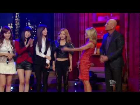 "Girls' Generation ""The Boys""on US TV Show 120201"