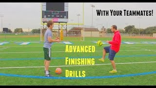 Soccer shooting drill for strikers and midfielders | soccer training