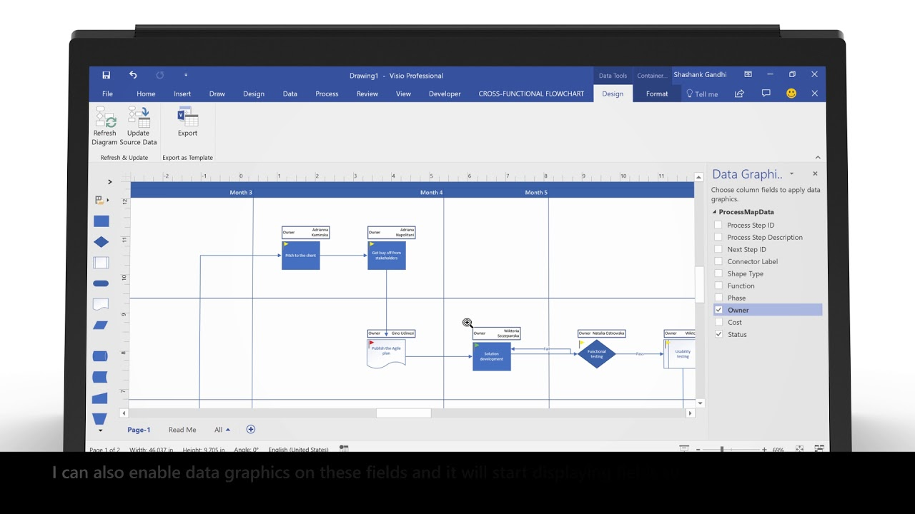 How to automatically create and update Visio diagrams from Excel