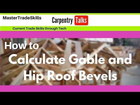 How to calculate gable and hip roof bevels