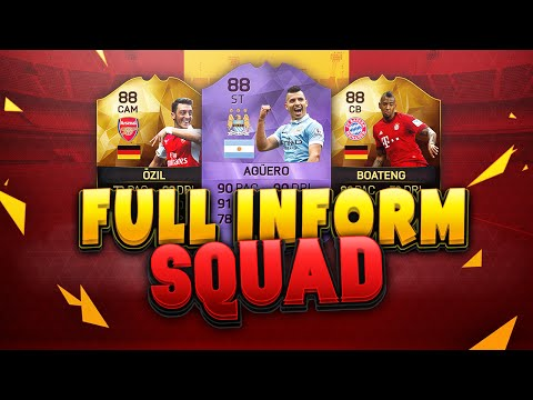 THE FIRST FIFA 16 FULL INFORM HYBRID!! SQUAD BUILDER 88 RATED PLAYERS + HERO CARD!!!