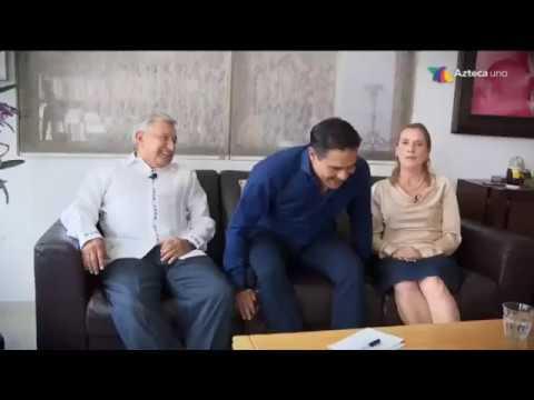 Entrevista en casa de #AMLOConAlatorre por TV Azteca