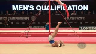 PETROUNIAS Eleftherios (GRE) - 2015 Artistic Worlds - Qualifications Floor Exercise