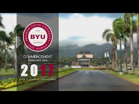 BYU HAWAII 2017 SPRING GRADUATION