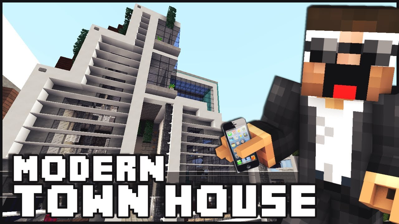Minecraft modern town house funnycat tv for Minecraft modern house 7x7