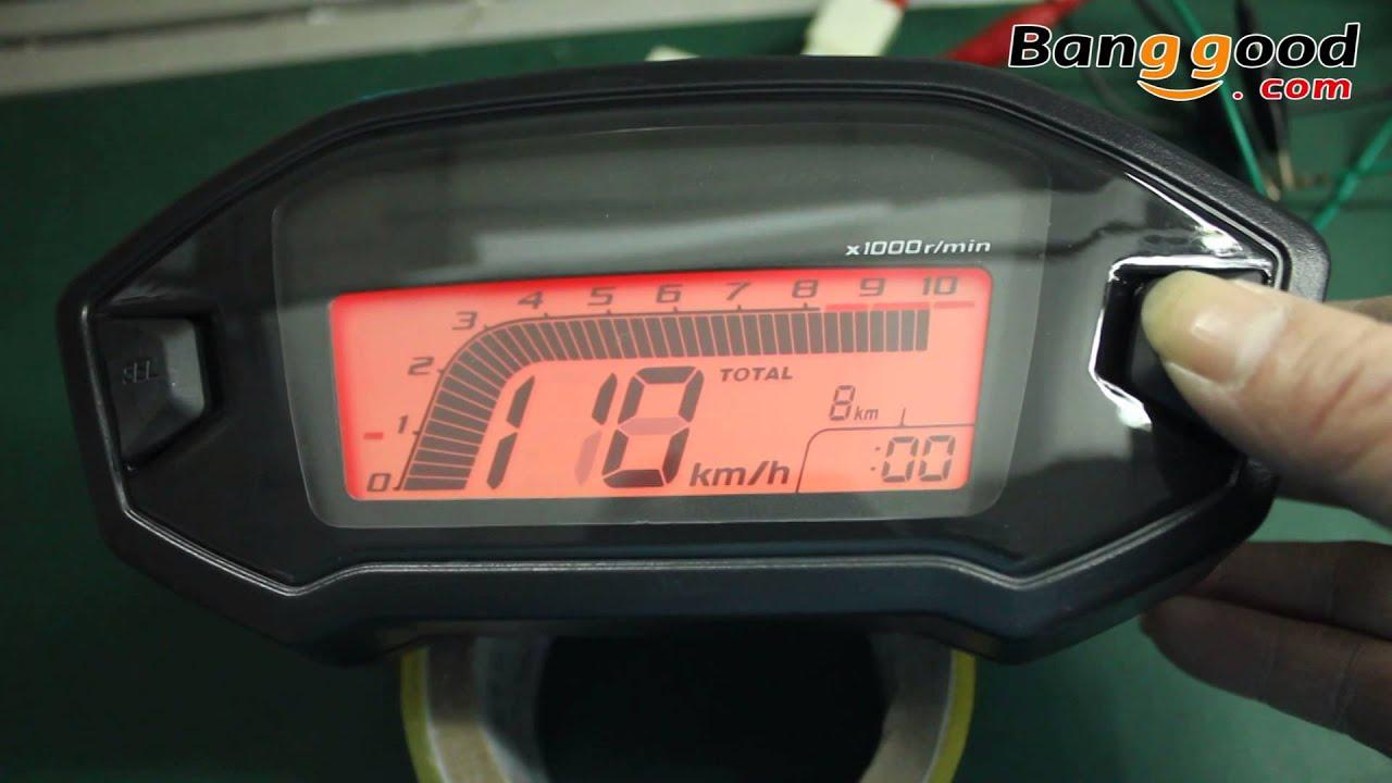 motorcycle speedometer wiring diagram led yamaha speedometer wiring diagram motorcycle digital speedometer seven backlight - banggood ... #14