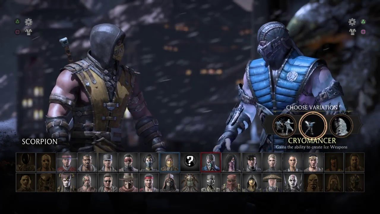 Mortal Kombat X Scorpion Vs Sub Zero Ps4 Youtube