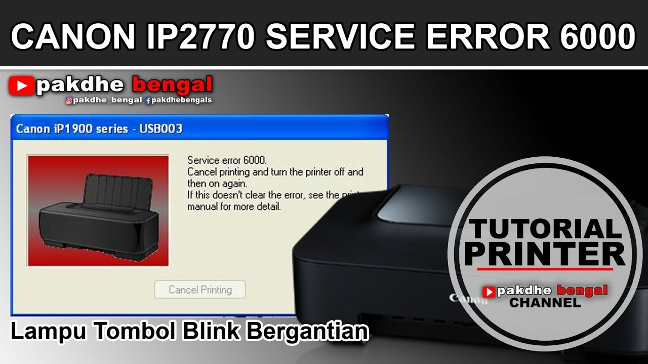 cara perbaiki printer canon error 6000 printer canon eror 6000 rh youtube com service manual printer canon ip2770