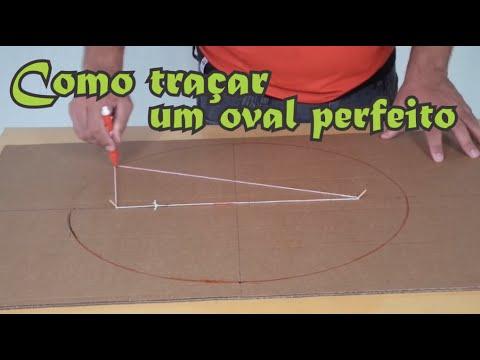 Como riscar um oval perfeito