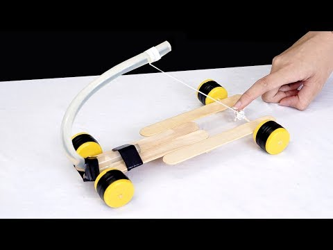 How to make a simple car with hot glue sticks