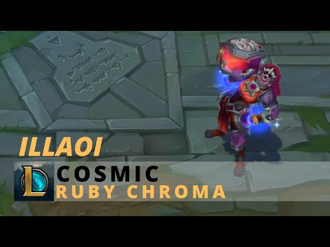 Cosmic Illaoi Ruby Chroma - League Of Legends