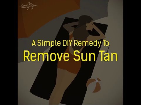 A Simple DIY Remedy To Remove Sun Tan