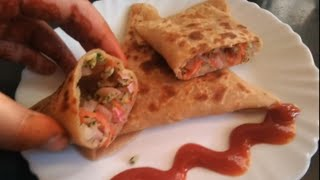 Veg Patties pocket paratha ( वेज पेटीज पॉकेट पराठा)Easy and Tasty snack