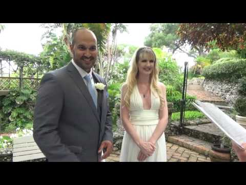 Marriage in Botanical Gardens by Sweet Gibraltar Weddings