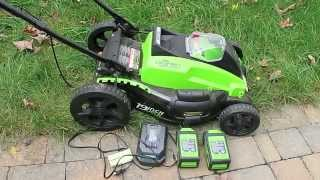 GreenWorks 19 inch 3 in 1 battery powered mower review