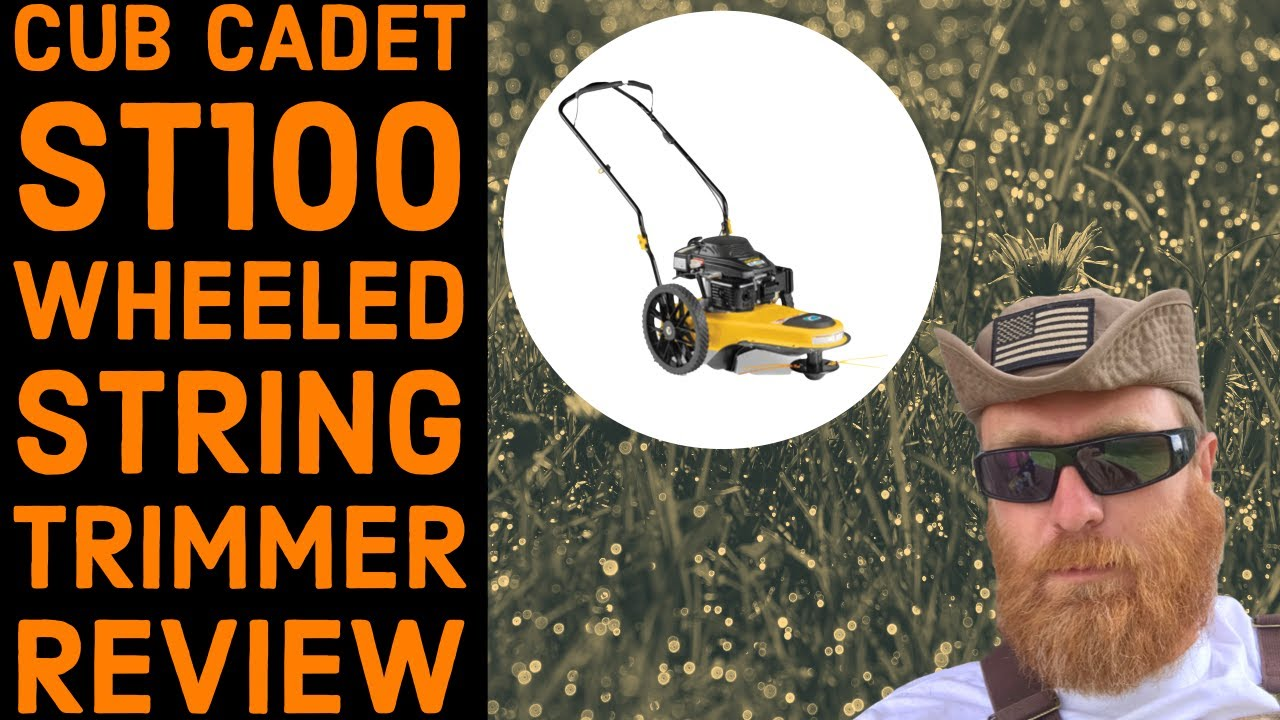 Cub Cadet St 100 Wheeled String Trimmer Product Review Youtube