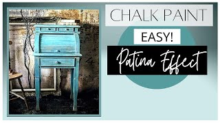 Old World Patina Effect Using Chalk Paint Ragging Technique