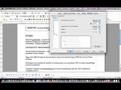Openoffice Writer Mise En Forme D Un Cv