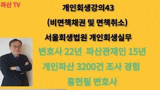 개인회생강의43(비면책채권 및 면책취소) 서울회생법원 …