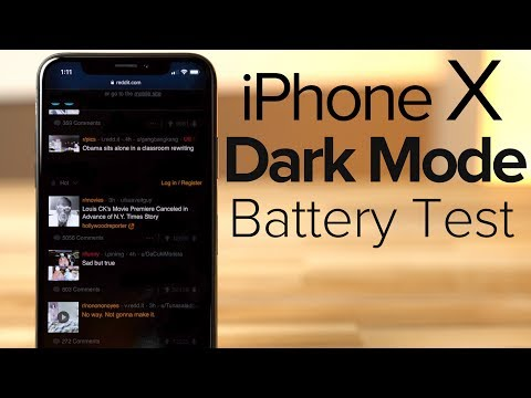 Dark Mode On Iphone X Vastly Improves Battery Life Youtube