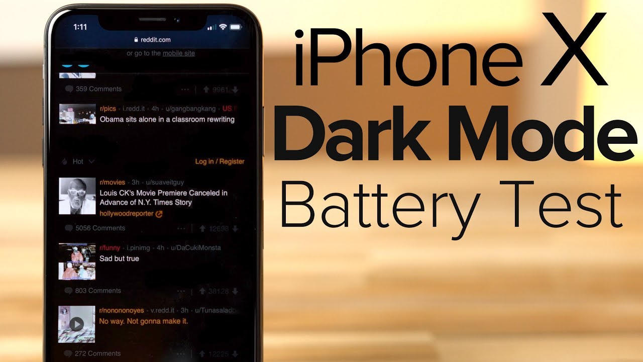 Extreme test shows OLED iPhone X with 'dark mode' saves