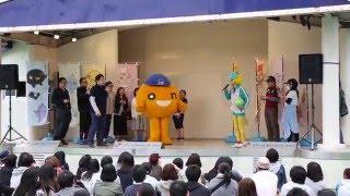 東武百貨店 池袋店で行われた「初夏の大北海道展」のイベント「ONちゃんオンステージ」の一コマ.