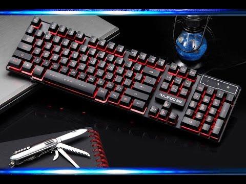 Игровая клавиатура с подсветкой. Купить в китае! DBPOWER Дешево .