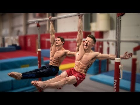 HEAD TO HEAD GYMNASTICS CHALLENGE WITH 30 YEAR OLD **Mind Blowing**