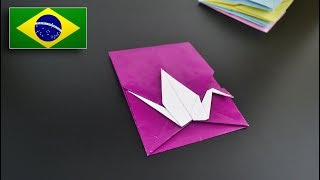 Origami: Envelope de Tsuru - Instruções em Português BR