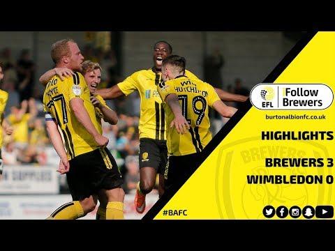 MATCH HIGHLIGHTS   Burton Albion 3-0 AFC Wimbledon