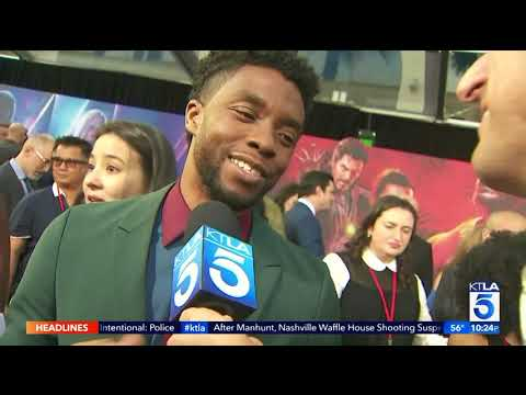 KTLA talks Box Office predictions with the Cast of Avengers: Infinity War
