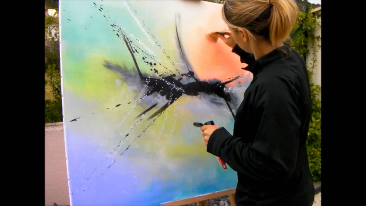 Comment faire une peinture abstraite acrylique demonstration vid o hd youtube youtube for Faire une rocaille au jardin