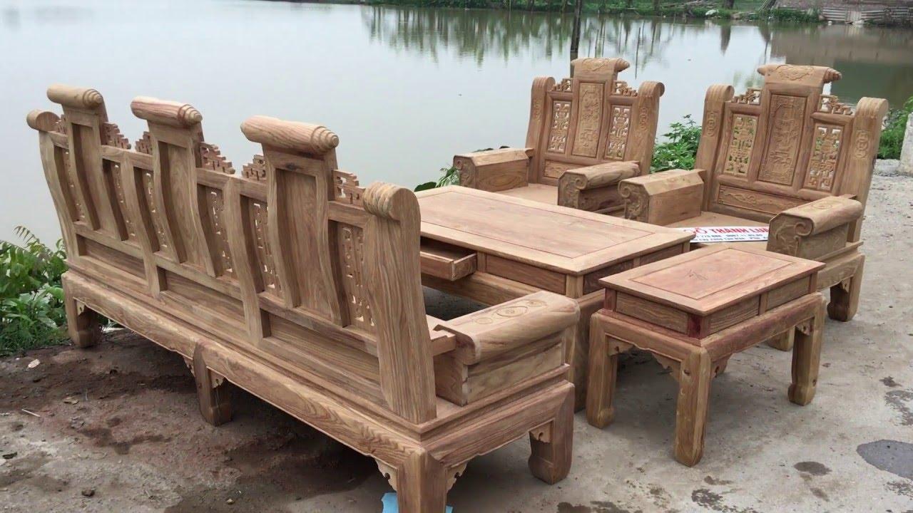 Bộ bàn ghế Âu Á Hộp gỗ Hương Vân (Đồ Gỗ Thành Luân) 26-3-2016