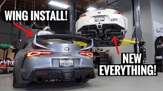 BIG WING FOR THE SUPRA+NEW REAR SUSPENSION FOR THE 370Z!!