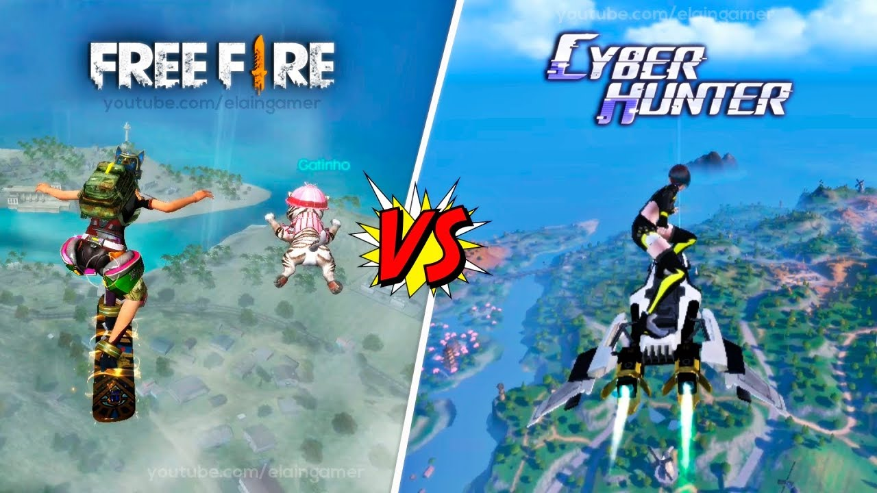Garena Free Fire vs. Cyber Hunter | Comparison 2019
