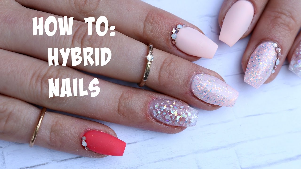 HYBRID NAILS / form placement - Acrylic base + builder gel FT. LE ...