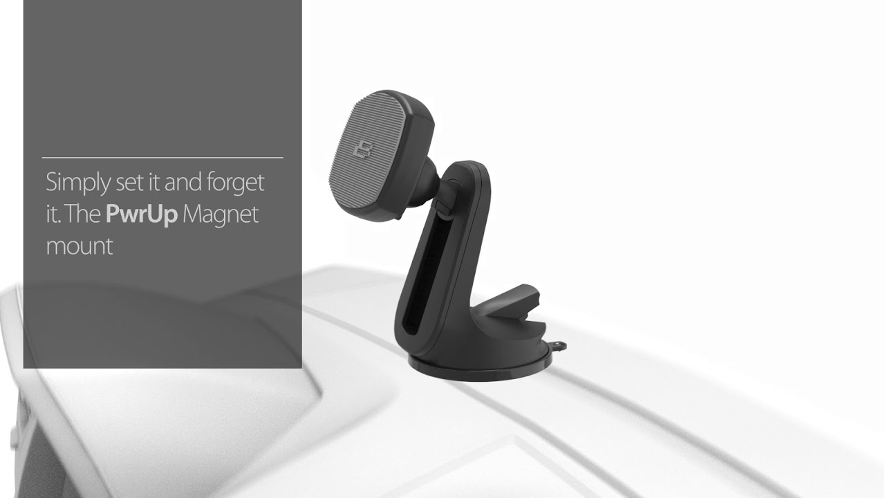 PwrUp Qi Fast Wireless Magnet Mount video thumbnail