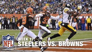 Antonio Brown's 1st-Half Explosion: 10 rec, 150 yards, TD against the Browns! | NFL Highlights