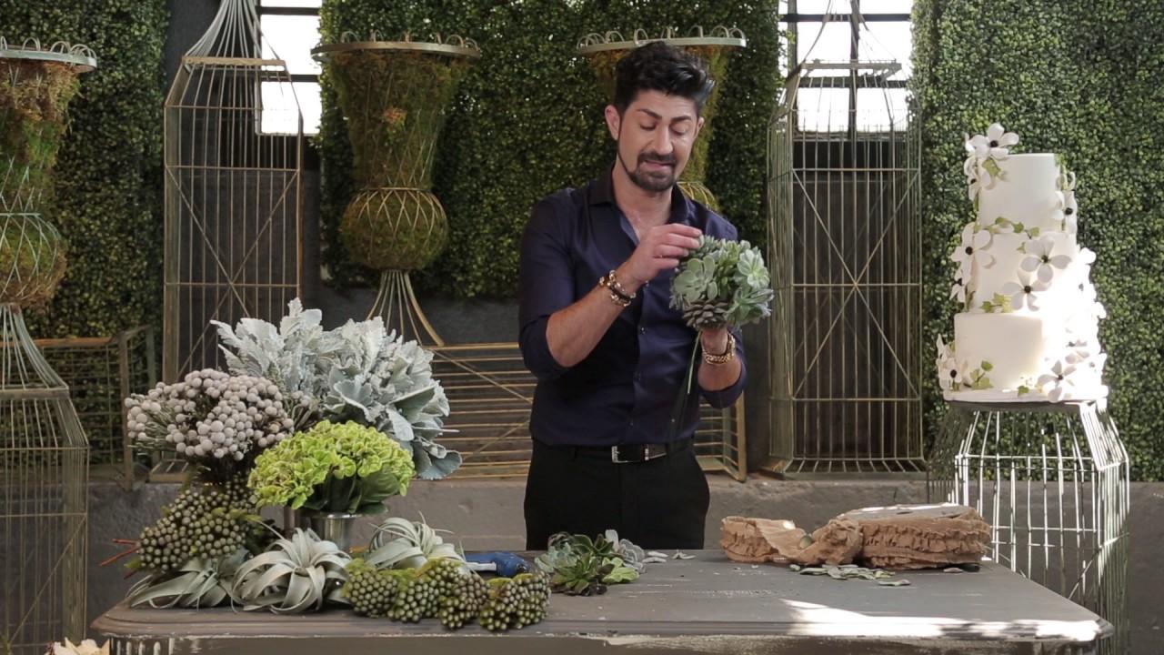 Diy Succulent Bridal Bouquet Youtube