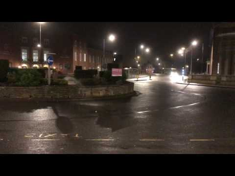 Water fault in Derby outside Council House