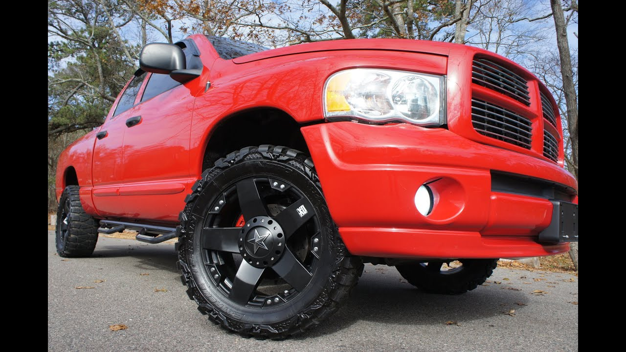sold2005 dodge ram 1500 crew cab sport for salecustom rims stereobeautiful truck youtube - 2014 Dodge Ram 1500 Lifted Red
