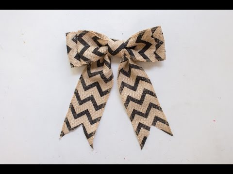 How To Make A Burlap Bow In Just Minutes!