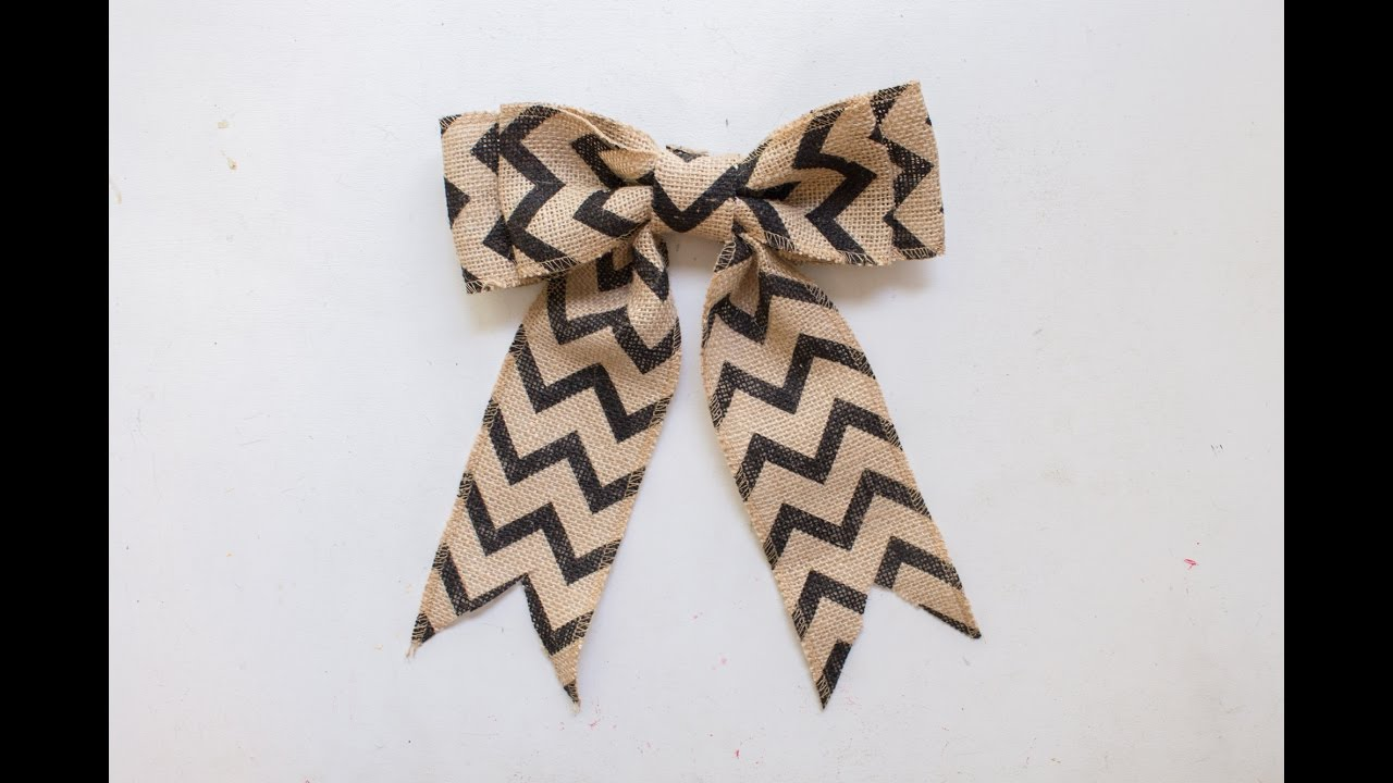 How To Make A Burlap Bow In Just Minutes! - YouTube