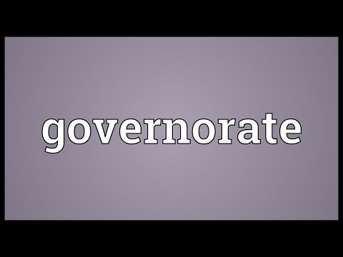 Governorate Meaning