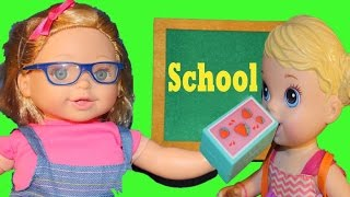 BABY ALIVE SCHOOL Glasses Doll Crazy Teacher Diaster In Classroom Learning Numbers Toys