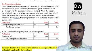 Lecture 20_1 - Consignment - Part 5 - CA Foundation - Accounts