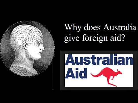 Why does Australia give aid?