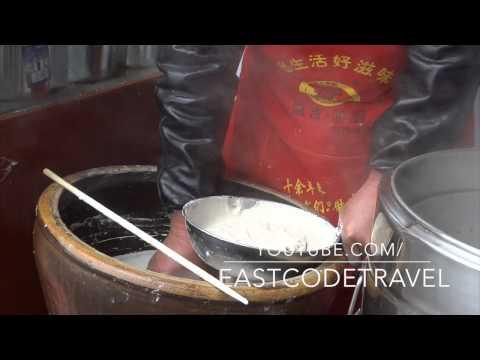 Chongqing fresh made noodle street food China