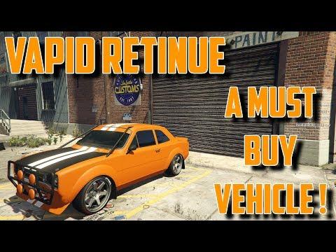 VAPID RETINUE : A MUST BUY ! GTA 5 SMUGGLERS RUN DLC